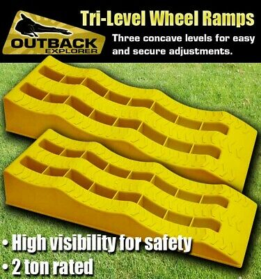 3 Stage Level Leveling Ramp Caravan RV Camper Trailer Levelling Solutions Pair O