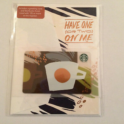"Starbucks ""HAVE ONE OR TWO ON ME 2017"" Card  & Envelope Set"