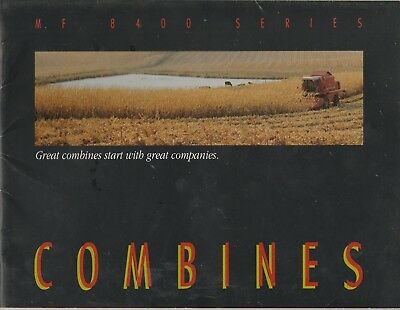 Massey Ferguson 8400 Series Combine Sales Catalog