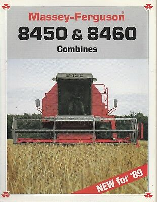 1989 Massey Ferguson 8450 & 8460 Combines Sales Catalog