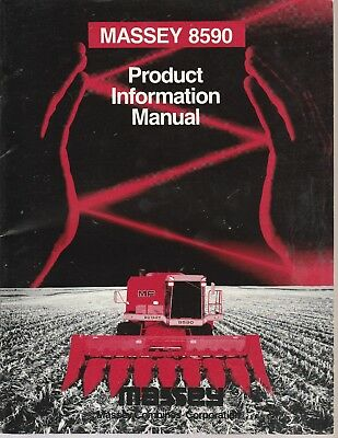 Massey 8590 Combine Dealer Product Information Manual