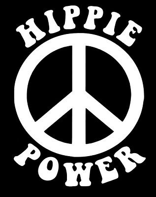 Hippie Power Peace Sign Decal Wall Art Sticker Rock n Roll Grateful Dead Yeti