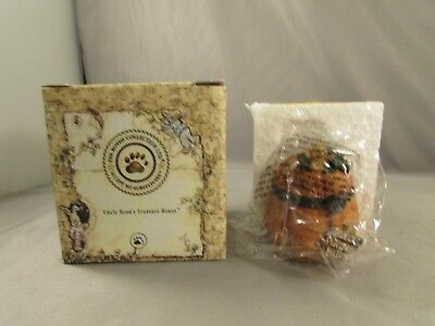 New Boyds Bears  Jack's Prize Punkin w/Nutmeg McNibble Treasure/Trinket Box