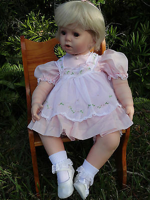 """Baby Shay""24"" Porcelain/Cloth toddler by Donna Rubert"