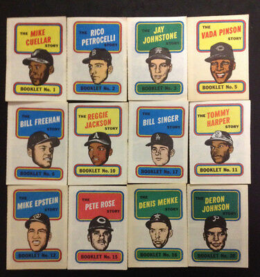 Topps 1970 Story Booklet - Lot of Sixteen (16) - Pete Rose, Reggie Jackson