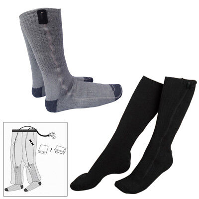 5V USB Electric Heated Socks Kit Cold Feet Winter Foot Warmer Insoles High Tube