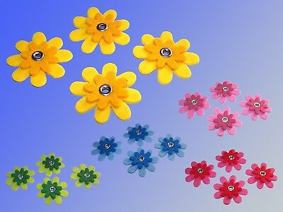 4 Piece Felt Flowers per Ø5cm , 2-lagig Flower, Decorative Craft