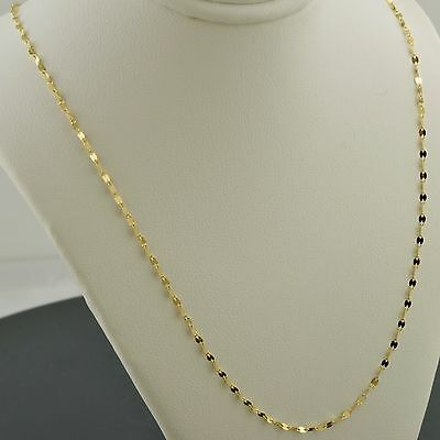 10K Yellow Gold 1.9Mm Polished Marine Link Necklace Free Shipping And Gift Box