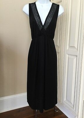 A Pea In The Pod Maternity Black Nightgown And Robe Set ~ Medium