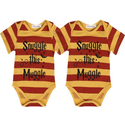 USA Newborn Baby Boy Girl Outfit Harry Potter Rompers Playsuit Bodysuit Sunsuit