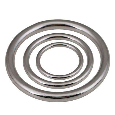 Welded Ring G304 Stainless Steel O Ring Round Rings Polishing Inner Dia 20-100mm