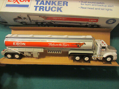Exxon Toy Tanker Truck With Lights & Horn, From 1993, Mint In Box