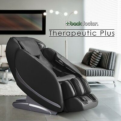 NEW Back Doctor Therapeutic Plus Massage Chair Heat Recliner Black