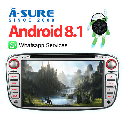 ANDROID 7.1 FORD Focus C/S-Max Mondeo Galaxy NAVI Autoradio DAB+ ...