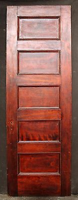 "30""x90"" Antique Vintage Solid Wood Wooden Door 5 Ladder Stacked Horizontal Panel"