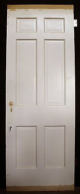 "30""x84""x175"" Antique Vintage Interior Solid Wood Wooden Colonial Door 6 Panels"