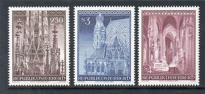 Austria Mnh 1977 Sg1781-1783 25Th Anv Of Re-Opening Of St Stephen's Cathedral