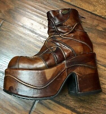 El Dantes platform Boots shoes 70s 90s womens Amazing Leather  38 US 7.5