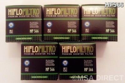 Kymco Downtown 125 / 200 / 300 / 350 (09 to 16) HifloFiltro Oil Filter HF566 x 5