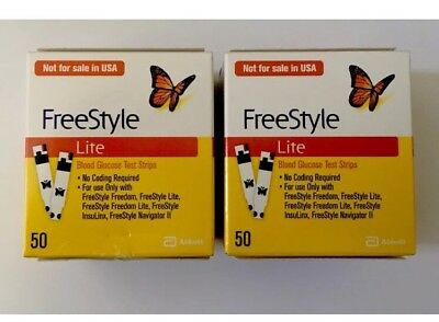 FREESTYLE LITE TESTING 50 STRIPS ( Buy 1 Get 1 Free )