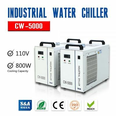 110V 60Hz S&A CW-5000DG Industrial Water Chiller for one 80W/100W CO2 Laser Tube