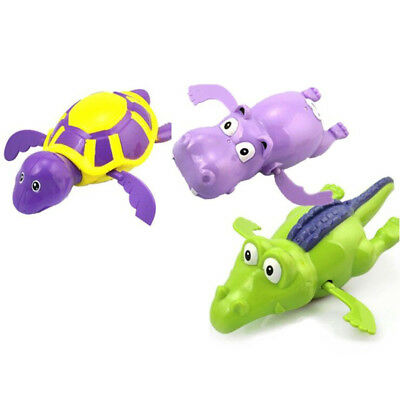3 Pool Wind Up Bath Toys Animal Swimming Tub Bathtub Play Toy for Kid Children