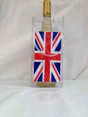 Ice Bag Wine Cooler Champagne Bucket Party Wine Bag GB flag