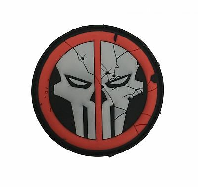 DeathPool Punisher Skull Patch fullcolor