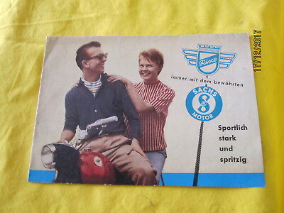 Rixe Derby RS Sachs Motor 50 Pappschild Reklame Oldtimer Moped Sportmoped