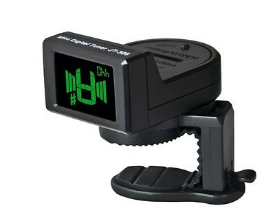 Black Joyo Et-306 Chromatic Headstock Tuner For Guitar, Bass, Uke, Banjo & More!
