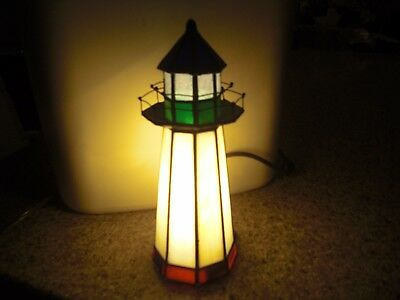 Lighthouse W/Cord, Lighted, 050276665519, Black, Red, White & Green