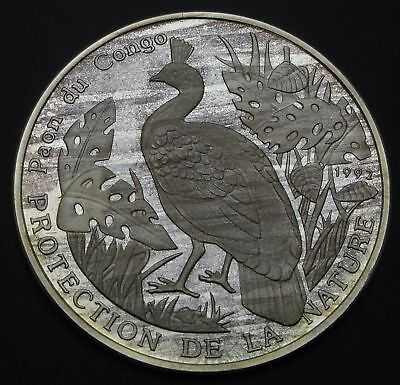 CONGO REPUBLIC 500 Francs 1992 Proof - Silver - Protection of Nature - 2713