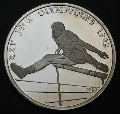 CONGO REPUBLIC 500 Francs 1991 Proof - Silver - Olympics - 2720