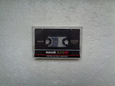 Vintage Audio Cassette MAXELL XLII-S 60 From 1986 - Excellent Condition !