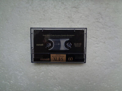 Vintage Audio Cassette MAXELL XLII-S 60 From 1988 - Excellent Condition !