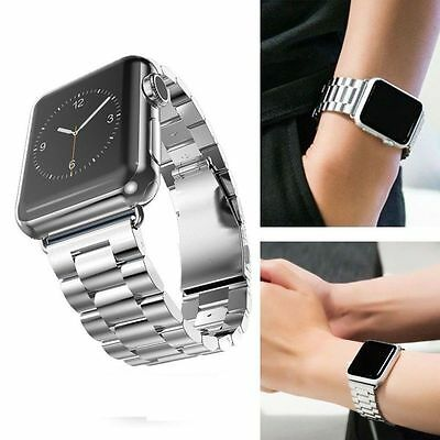 UK Stainless Steel Strap Watch Band + Adapter Watch iWatch Series 3 2 1 38mm