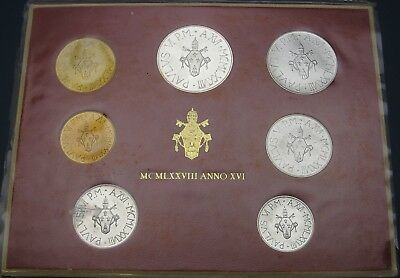VATICAN 5, 10, 20, 50, 100, 200, 500 Lire 1978R - Mint set - ¤