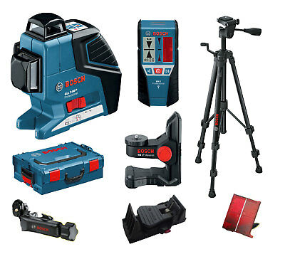 BOSCH Line laser GLL 3-80 P Construction Tripod BT150 Ceiling clamp Receiver LR2