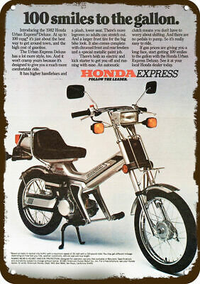 1982 HONDA URBAN EXPRESS DELUXE SCOOTER MOTORCYCLE Vintage Look METAL SIGN