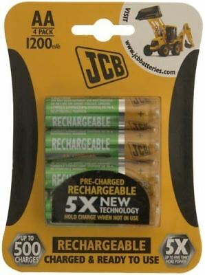 4 x JCB AA 1200mah Rechargeable Batteries HR6 Charged and Ready to Use
