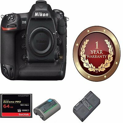 Nikon D5 DSLR Camera (Body Only, Dual CF Slots) W/ 64GB CF MEORY CARD 1558