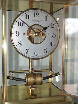 Superbe BULLE CLOCK cage laiton verre 1926 french clock collection