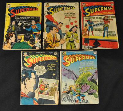 Superman Golden Age Lot #s 64 67 70 77 78 DC