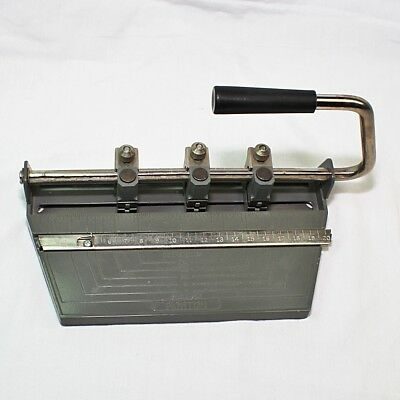 Boston 3 Hole Punch STD Vintage Mid Century Modern Heavy Duty Made In USA Metal