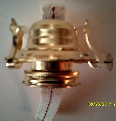 Number 2 steel brass plated Oil Lamp Collar, Burner and Wick in new condition