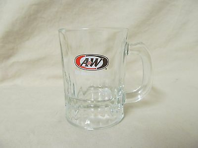 "Vintage 1960's A&W Root Beer Glass Stein Mini Mug Child Sized 3.25"" Tall"