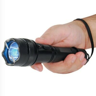 Metal MILITARY Powerful 10MV LED Tactical FLASHLIGHT STUN GUN Shock Torch NEW