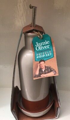 Jamie Oliver Terracotta Oil Drizzle & Dip Set (New)