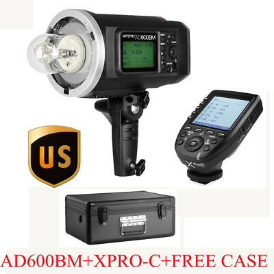 US Godox AD600BM 600W HSS Studio Flash+XPro-C 2.4G TTL Transmitter Kit For Canon