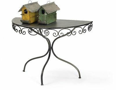 Spiraled Demilune Table